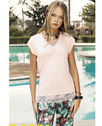 Pyjama fesi casual - Rose