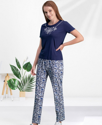 Pyjama arnetta - Bleu marine