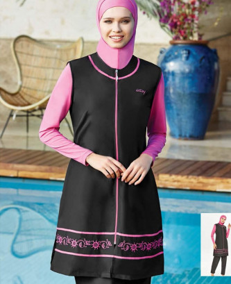 Maillot De Bain Hijjab - Noir