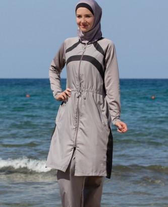 Maillot De Bain Hijjab - Gris
