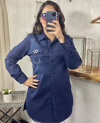Chemise femina - Bleu marine