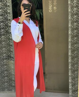 Gilet femina - Rouge
