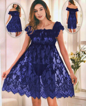 Ensemble 2pcs silvia - Bleu