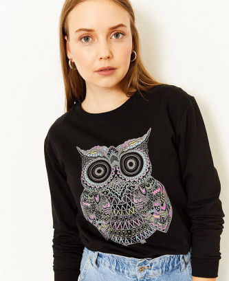 Sweatshirt Femme Noir...