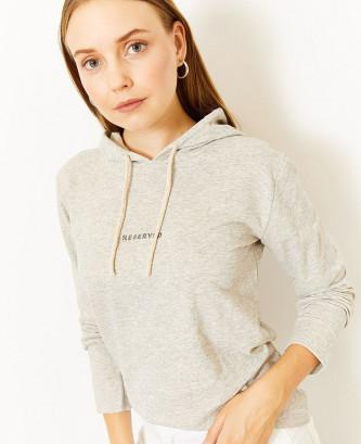 Sweatshirt à capuche à...