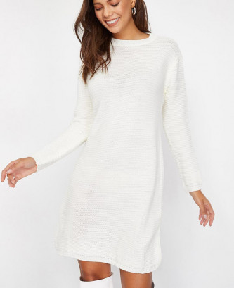 Pull robe  en maille pour...