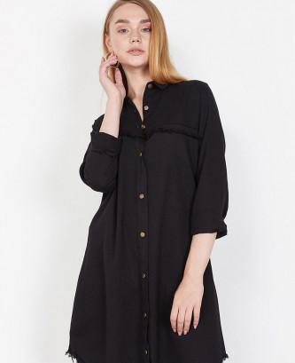 Robe chemise femme - Noir