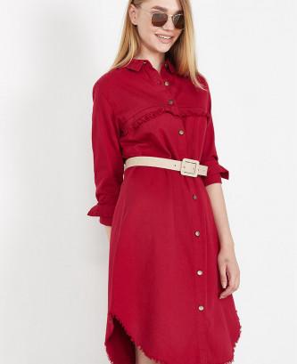 Robe chemise femme - Bordeaux