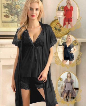 Ensemble 3pcs silvia - Noir