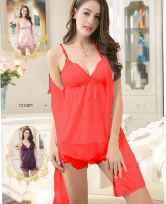 Ensemble 3pcs silvia - Rouge