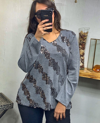 Pull Flas - Gris