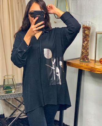 Chemise grandi - Noir