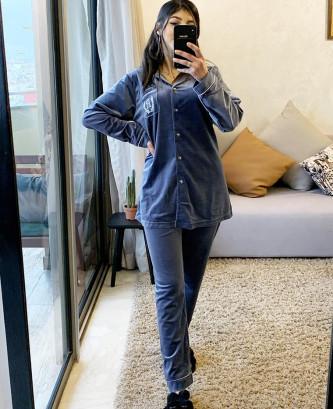 Pyjama 2pcs - Bleu/Gris