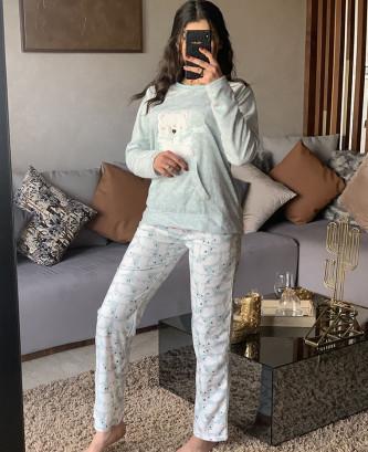 Pyjama 2 pieces - Vert eau