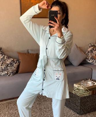 Pyjama 2Pieces - Vert eau