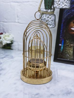 Chandelier cage déco M GOLD