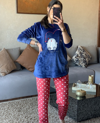 Pyjama 2Pieces - Bleu marine