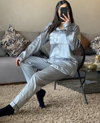 Pyjama TSS - Bleu/Gris