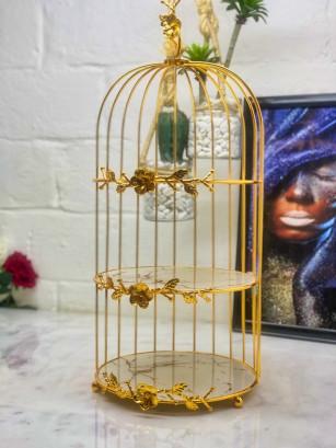 Serviteur cage verre marbre...