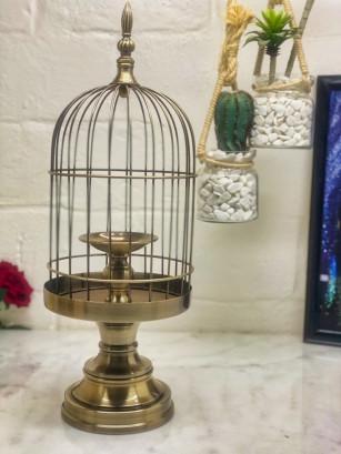 Bougeoir cage déco XL Bronze