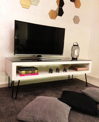 Meuble TV vintage BD - Blanc
