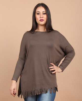 PULL EN LAINE - Taupe