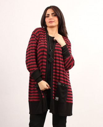 CARDIGAN GRANDI - Bordeaux